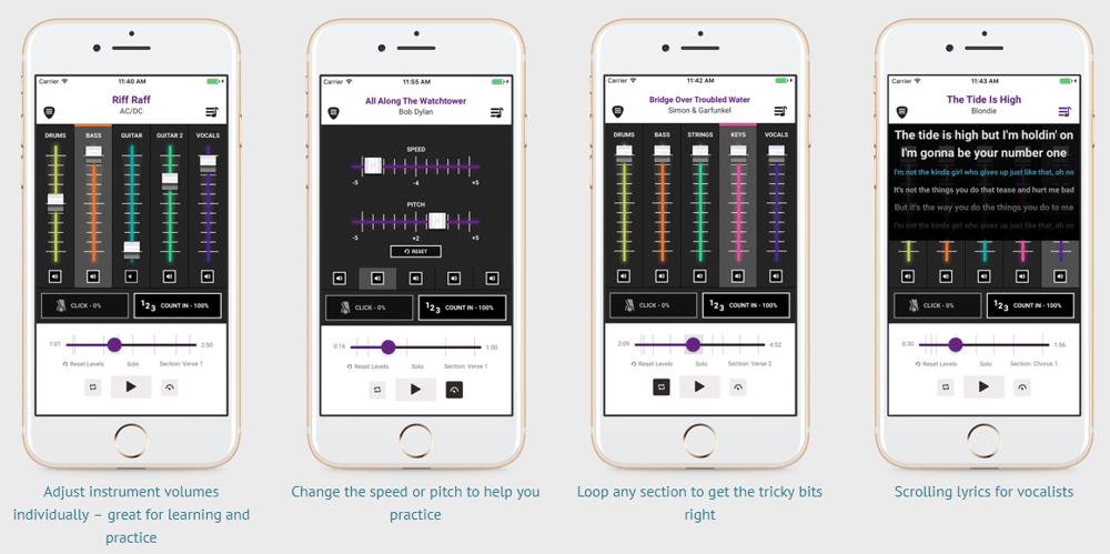 The 'Play Trinity Rock & Pop' app