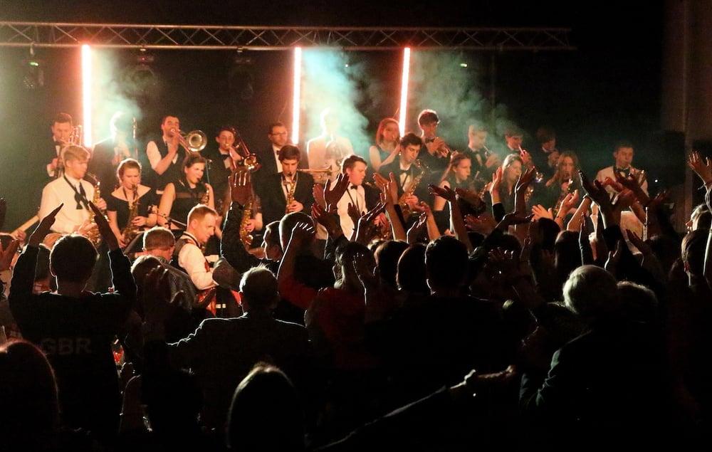 A musical performance at Simon Balle All-Through School
