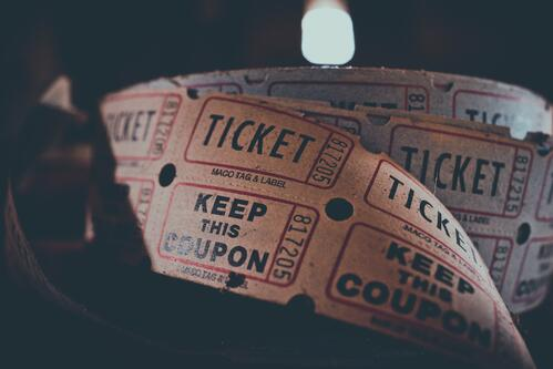 Roll of paper theatre tickets